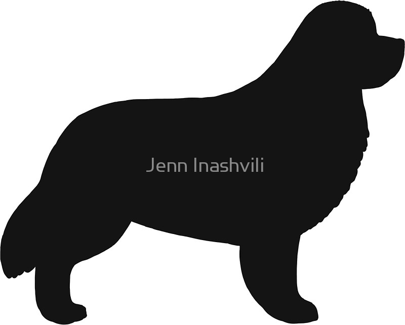 800x643 Newfoundland Dog Silhouette(S) Stickers By Jenn Inashvili Redbubble