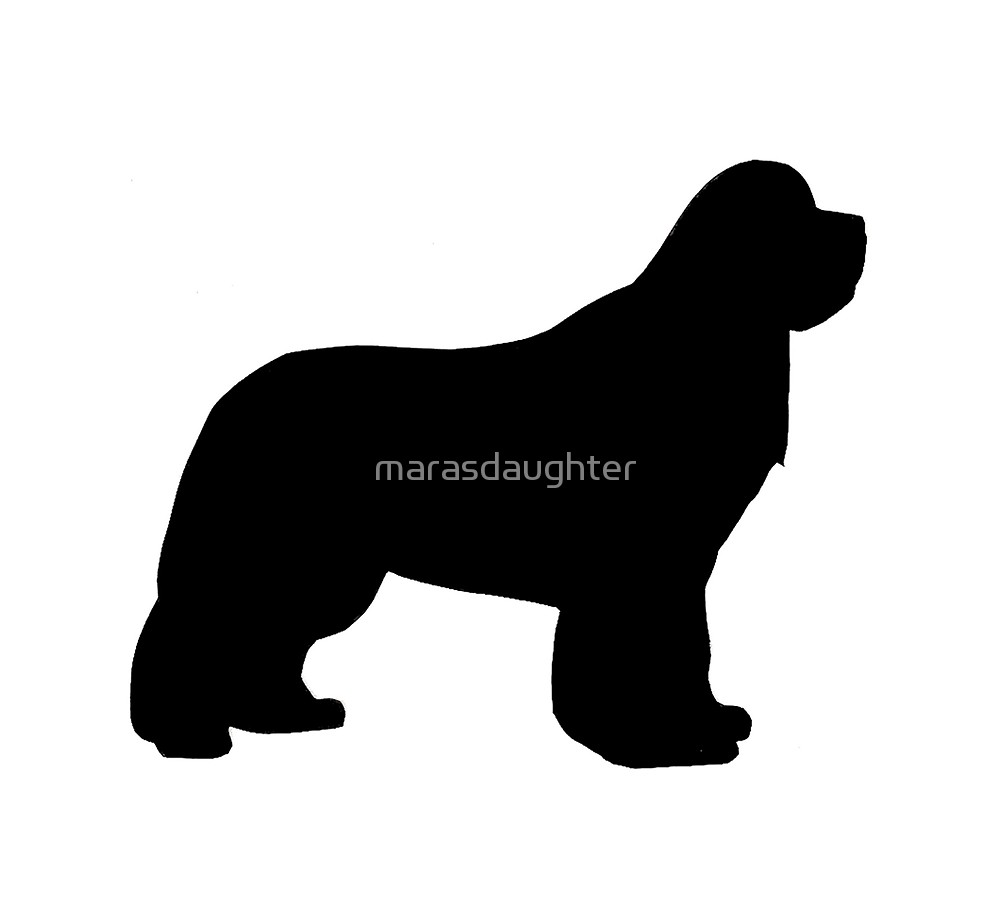 1000x922 Newfoundland Silhouette By Marasdaughter Redbubble