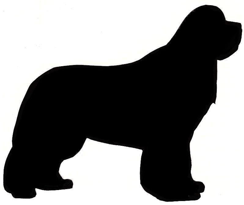 798x672 Silhouettes Of Dog Heads Newfoundland Newfoundland Silhouette