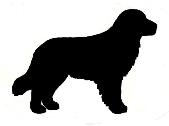 570x426 Golden Retriever Dog Canine Profile Silhouette Window Decal