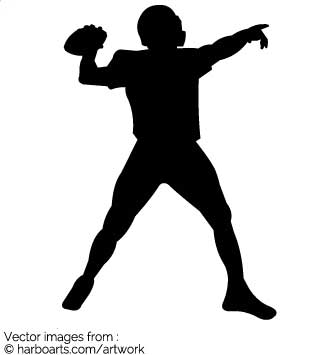 335x355 Download Football Player Throwing Ball