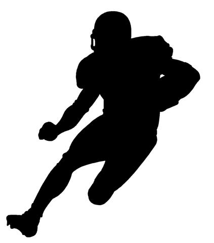 423x480 Football Player Running Silhouette