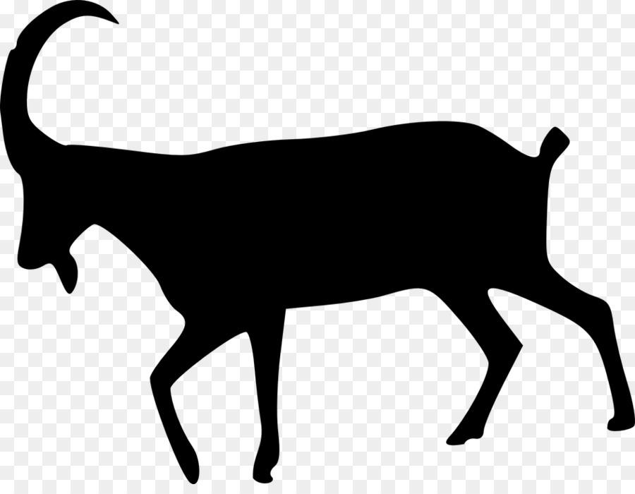 900x700 Boer Goat Sheep Silhouette Clip Art