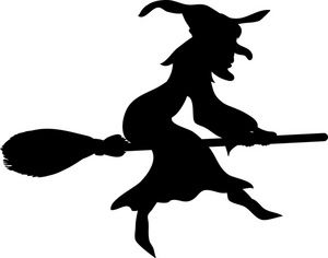 300x236 Witch Clipart Image An Old Hag Wicked Witch Flies On Her