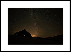 250x183 Night Sky Glowing Over Silhouette Photograph By Marg Wood