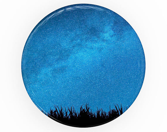 570x451 Silhouette Night Sky Skin Decal Kit For The Popsocket
