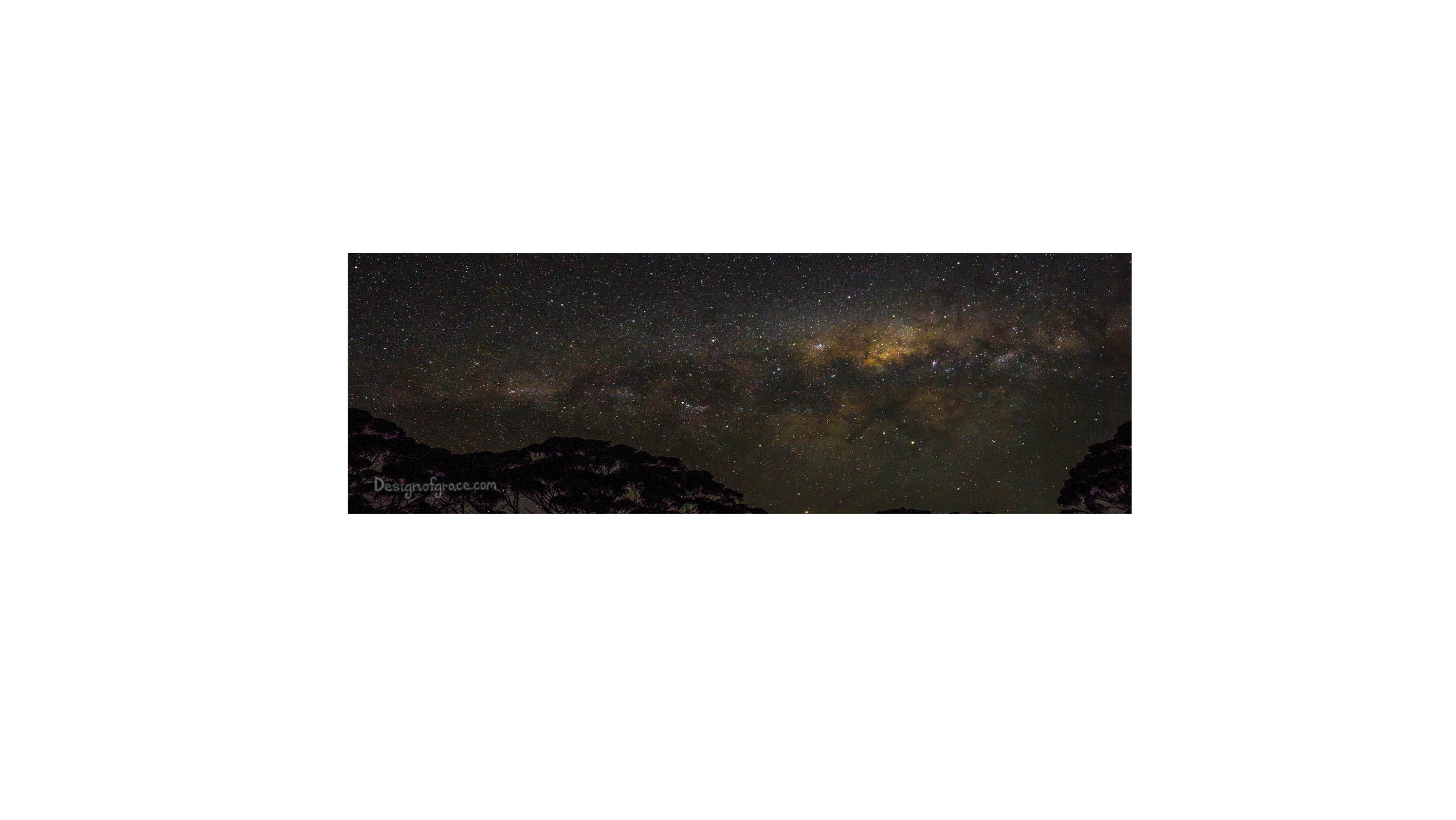 2832x1596 The Milky Way Nature Inspirational Mounted Photo 12 X 4