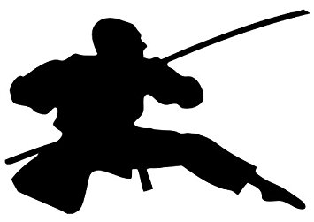 355x251 Action Ninja Silhouette Wall Decal By Wallmonkeys Peel