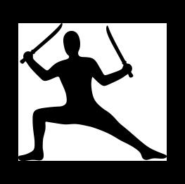 263x262 Ninja Silhouette Free Svg Cricut Silhouettes