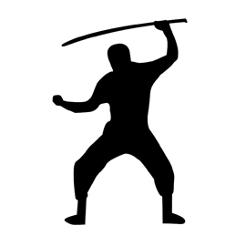 270x270 Ninja Silhouette Stencil Free Stencil Gallery
