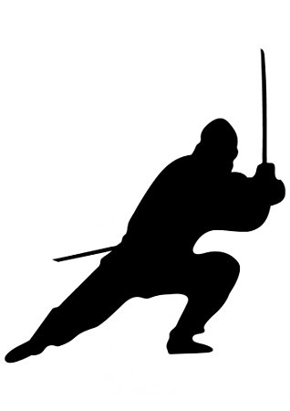318x450 Ninja Silhouette Wall Decal By Wallmonkeys Peel