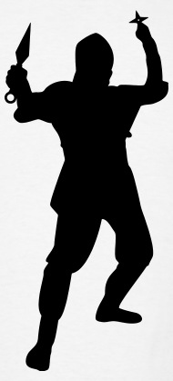 190x419 Silent Ninja Silhouette By Azza1070 Spreadshirt