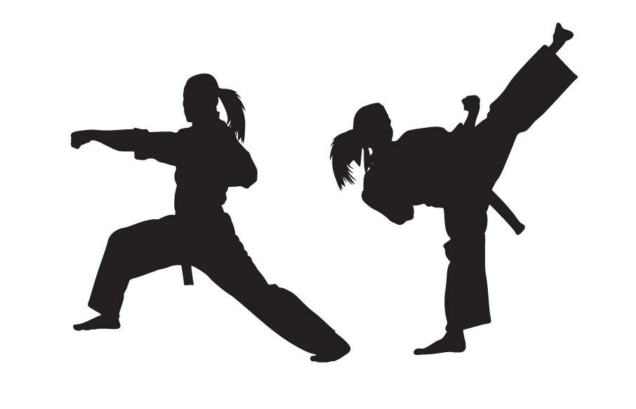 906x582 Clipart Karate Girl Silhouette Clip Art 22