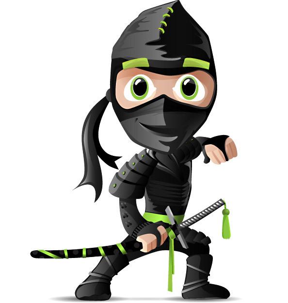 594x626 Ninja Character Free Vector Free Vectors Ui Download