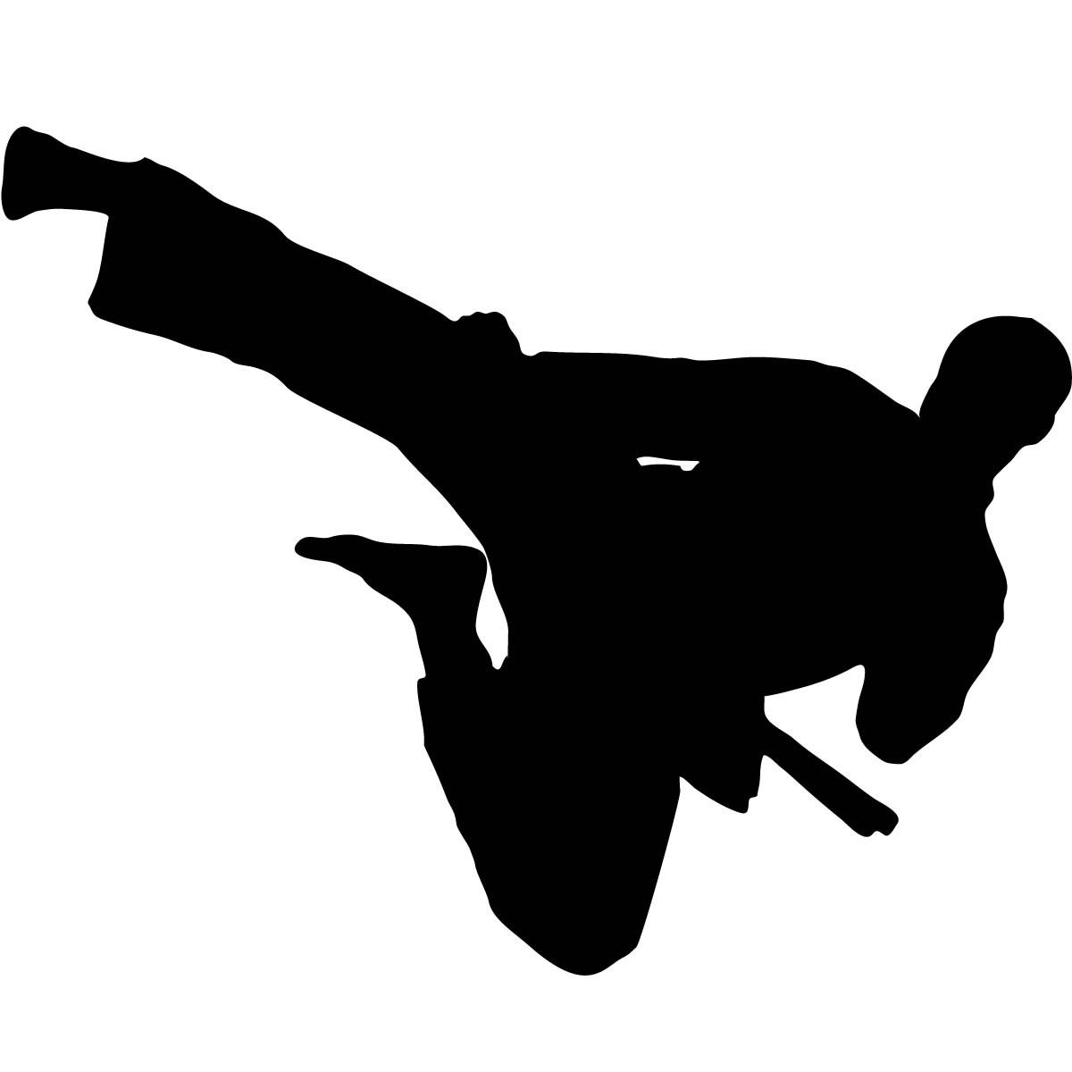 1200x1200 Ninja Kick Clipart