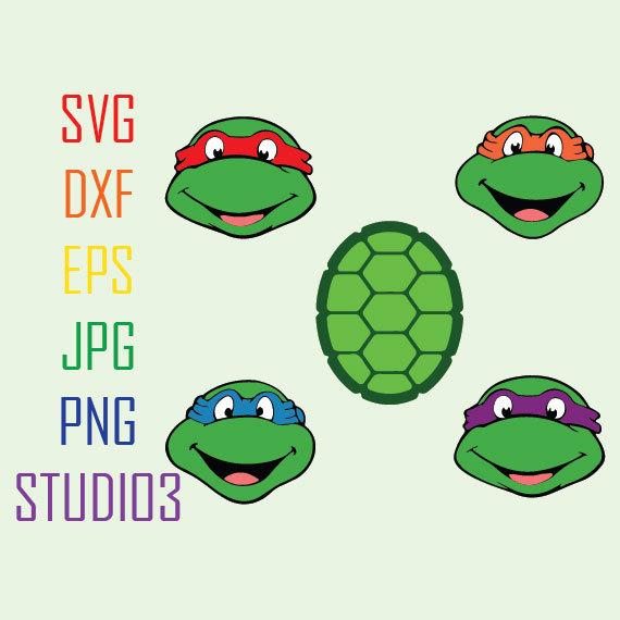 570x570 Teenage Mutant Ninja Turtles, Svg, Dxf, Eps, Studio 3, Png, Jpg