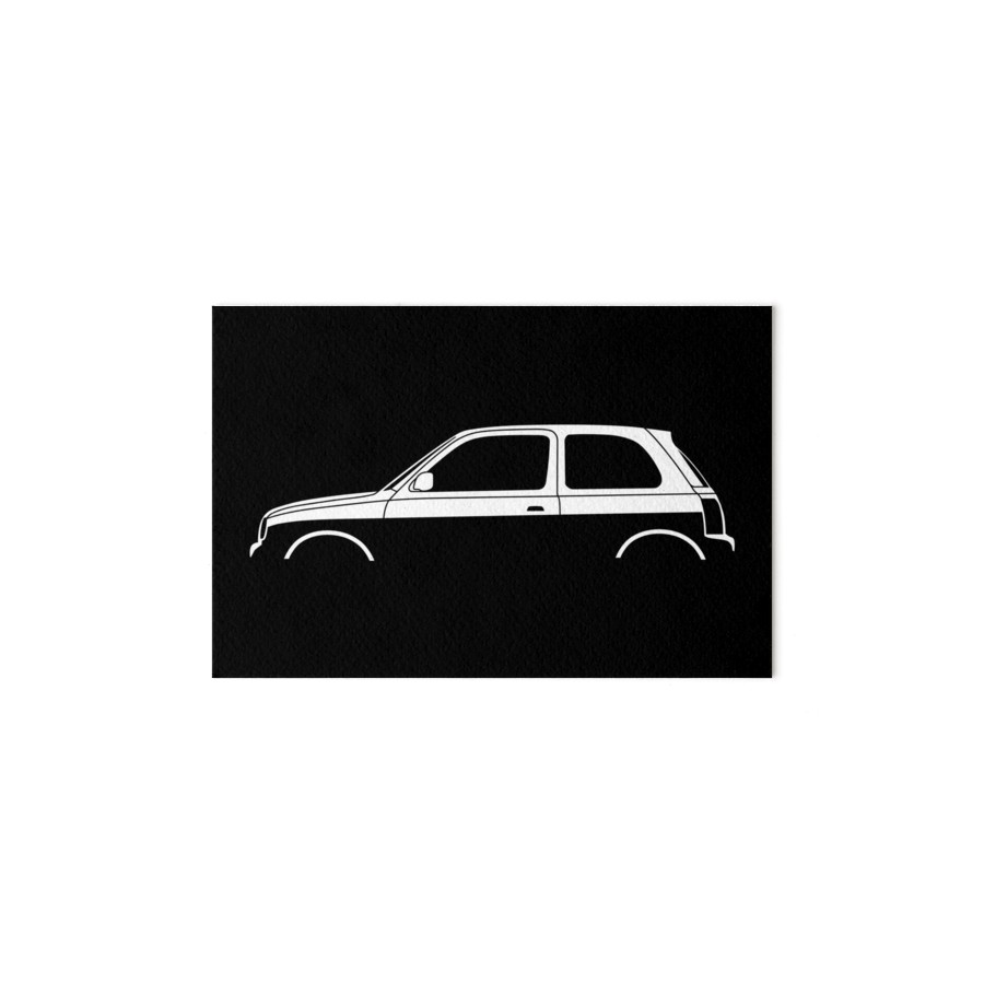 900x900 Car Silhouette For Nissan Micra K11 Enthusiasts Art Boards By