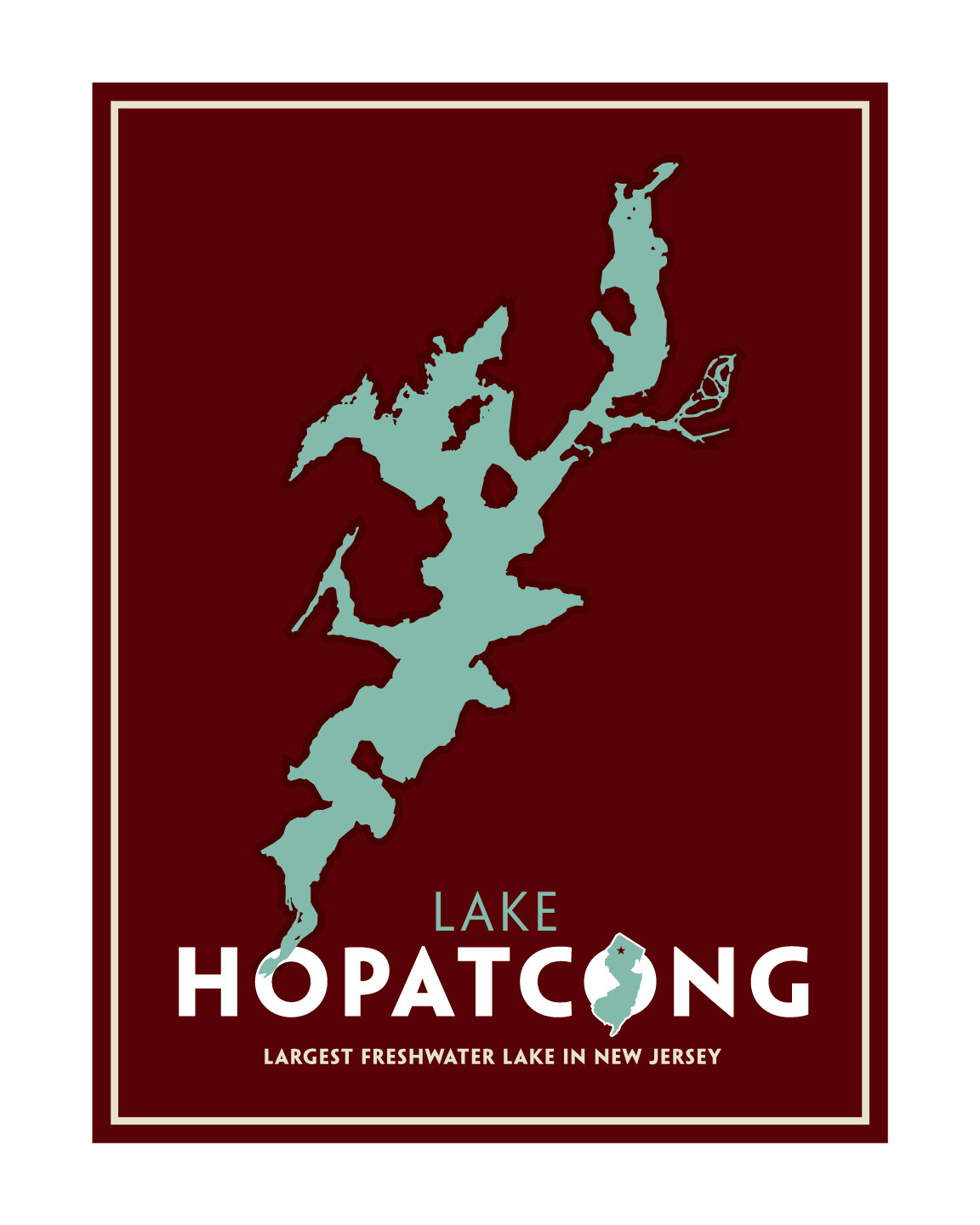 1152x1440 Lake Hopatcong Nj Print
