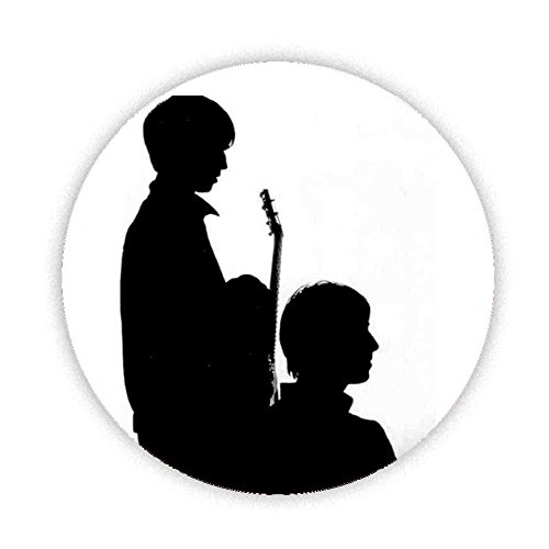 500x500 Oasis Noel And Liam (Silhouette) Instruments Button Badge 38mm