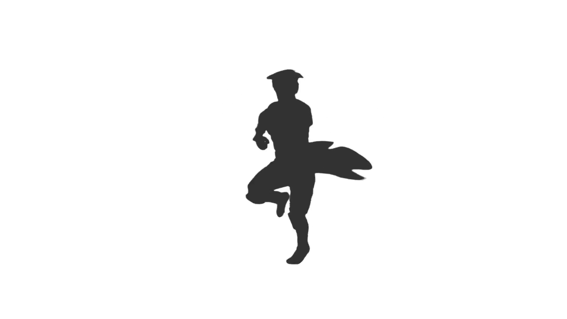 1920x1080 Silhouette Of Dancing Man, Full Hd Footage With Alpha Channel