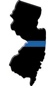 225x350 Thin Blue Line New Jersey State Decal