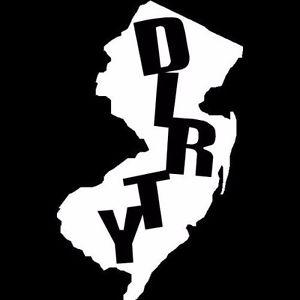 300x300 Dirty Jersey Custom Nj Silhouette (6 White) Vinyl Decal Window