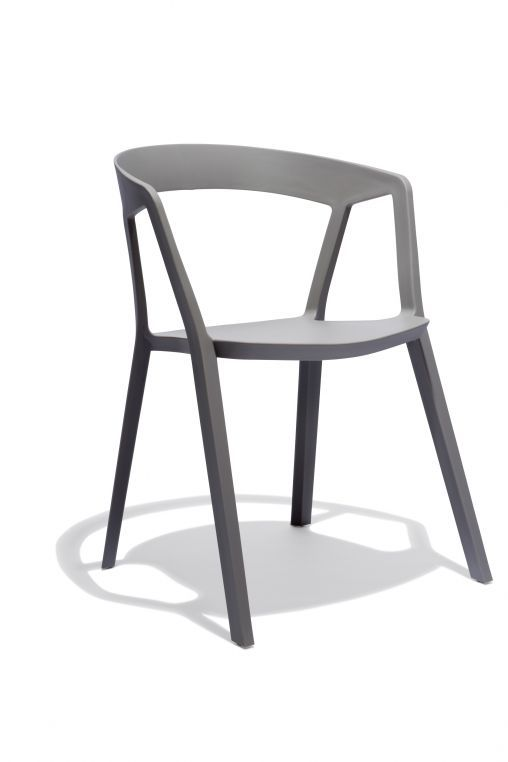 508x762 Nomad Chair In Gray. Can Be Used Outdoors And Stacks Up To 8 High