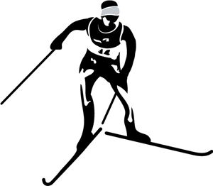 Nordic Skier Silhouette