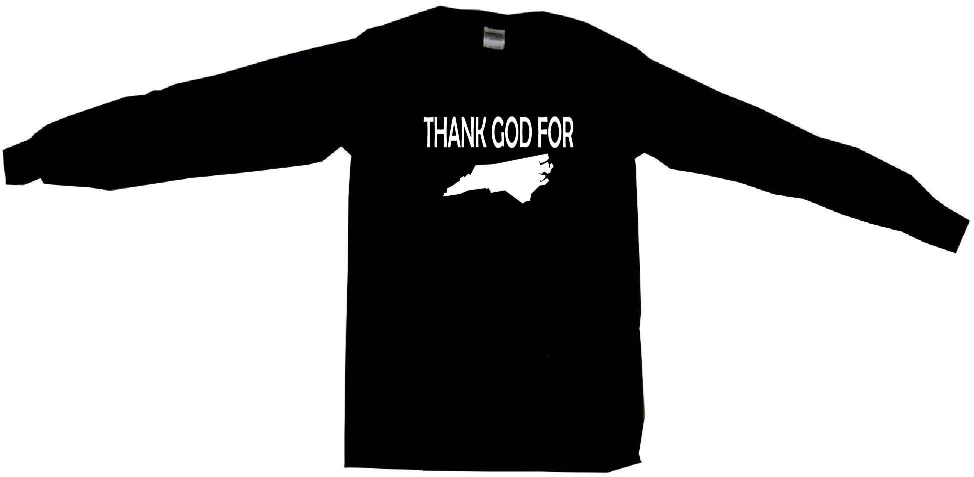 1947x953 Thank God For North Carolina Silhouette Mens Tee Shirt Pick Size