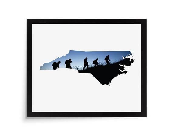 570x456 North Carolina, State Photo Mat, State Picture Mat, Shape Picture