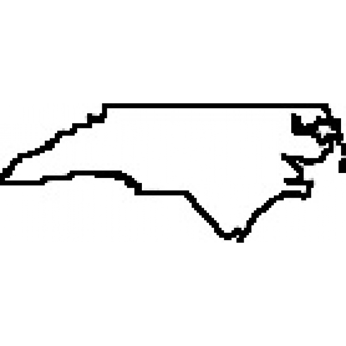 700x700 North Carolina Map Outline Free Printable Maps