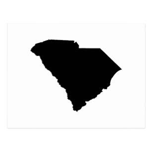 307x307 South Carolina Outline Postcards Zazzle