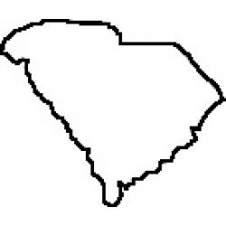 250x250 Teacher State Of South Carolina Outline Map Rubber Stamp School