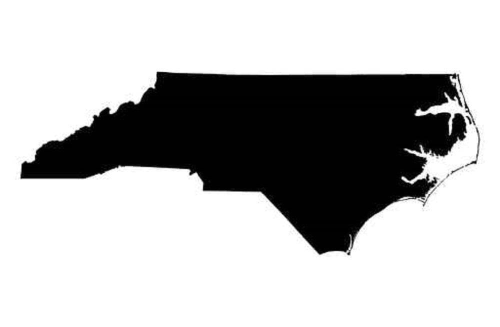 1000x654 Map Of North Carolina, Usa Kombat Ready Wrestling