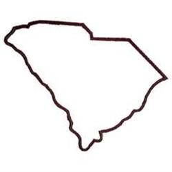 250x250 South Carolina State Map Outline