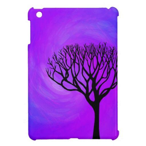 512x512 Tree Silhouette (Northern Lights) Case For The Ipad Mini Ipad
