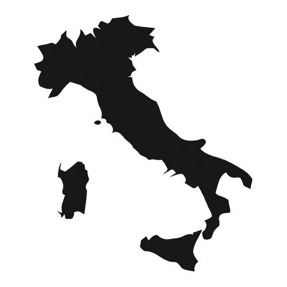 570x570 Italy Map Svg Silhouette Clipart Italy Map Vector File