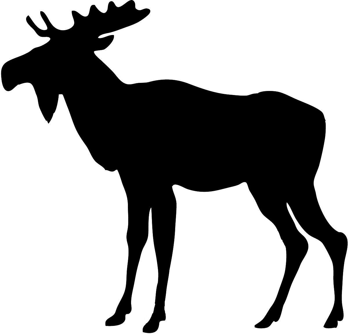 1200x1153 Animal Silhouette Animal Silhouette Moose 2.jpg Clocks