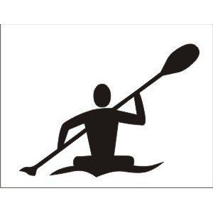 300x300 Kayaking Silhouette 5 Inch Vinyl Decal Perfect For By Kwsupply