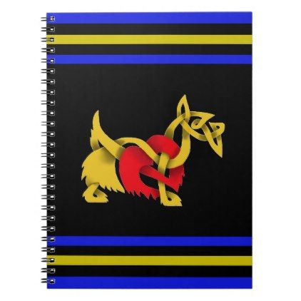 422x422 Scottish Terrier Black Silhouette Celtic Heart Notebook Celtic Heart