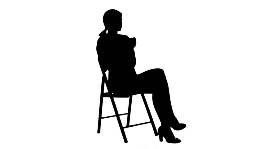 852x480 Silhouette Female Doctor Talking To Patiennd Writes In