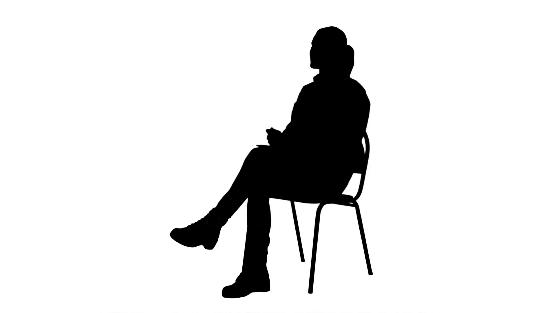 1920x1080 Silhouette Female Doctor Talking To Patiennd Writes In