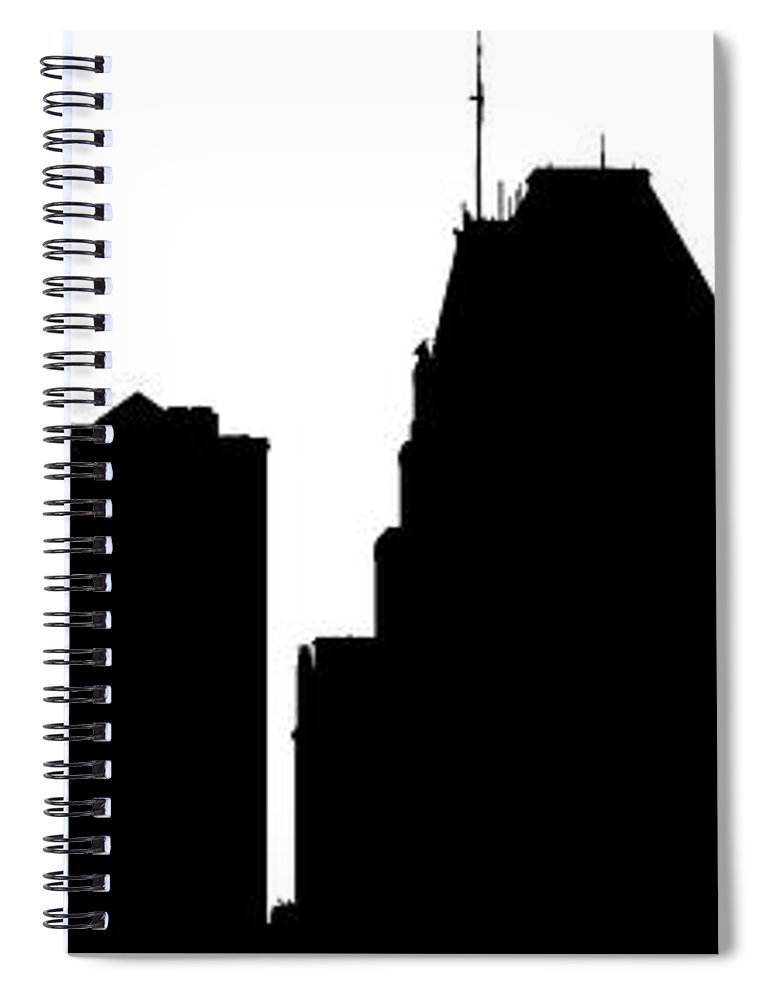 770x1000 Baltimore Skyline Silhouette Spiral Notebook For Sale By William