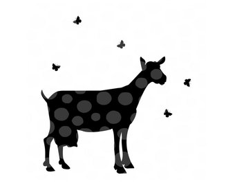340x270 Goat Silhouette Svg Etsy