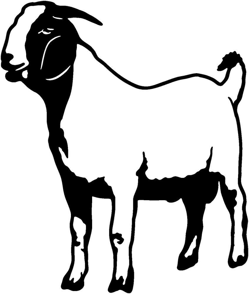846x1000 Boer Goats Clip Art