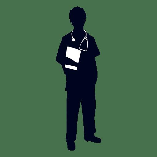 512x512 Nurse Holding File Silhouette