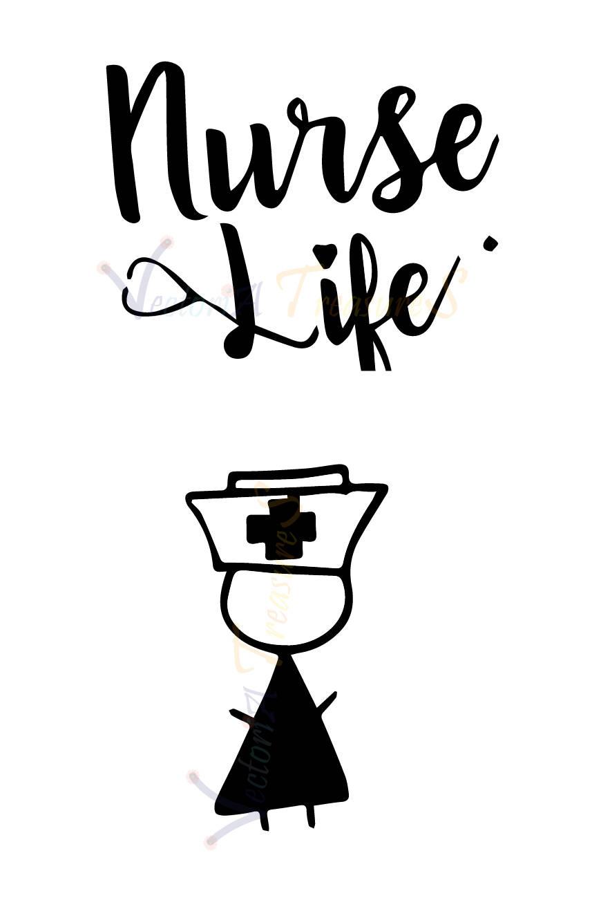 870x1312 Nurse Svg, Nurse Svg File For Cricut, Nurse Png, Nurse Silhouette