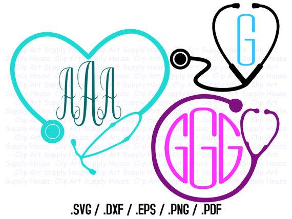 570x428 Nurse Monogram Frame Clip Art, Svg Design Files, Use