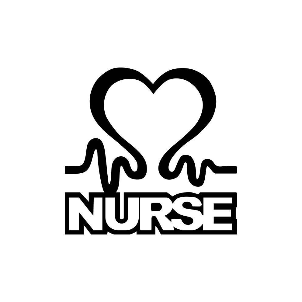 993x993 Nurse Heart Sign Word Graphics Svg Dxf Eps Png Cdr Ai Pdf Vector