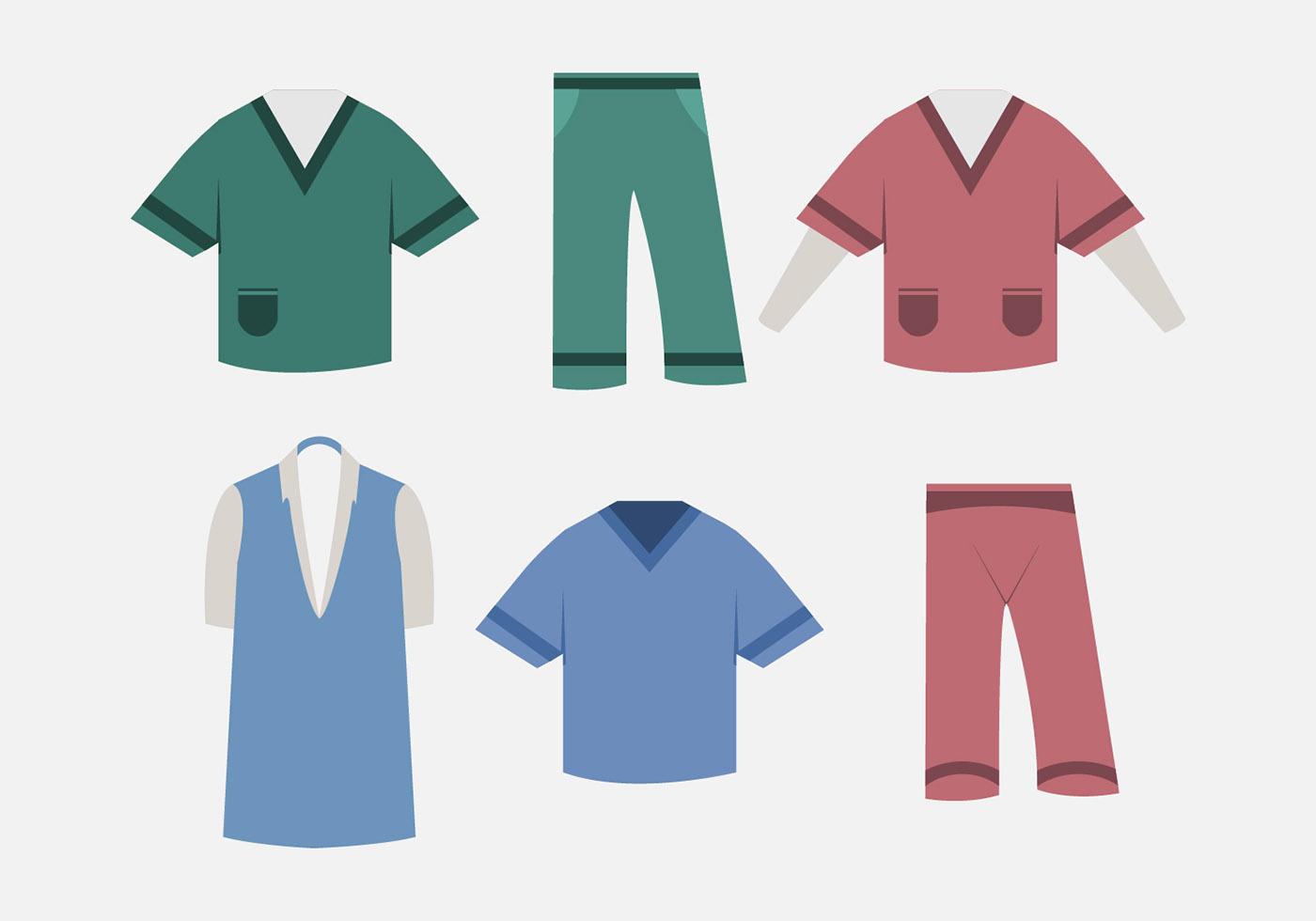 1400x980 Nurse Scrubs Free Vector Art